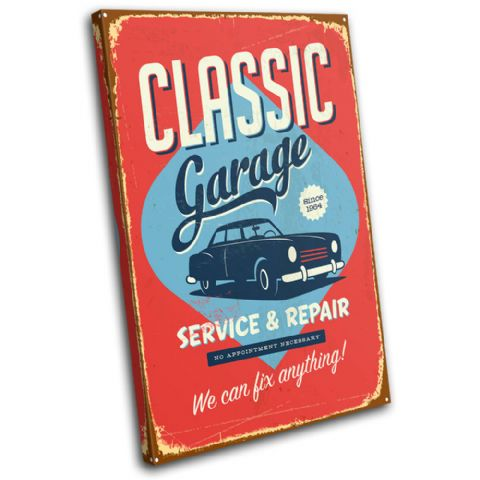 Garage sign Shabby Chic Vintage - 13-0541(00B)-SG32-PO